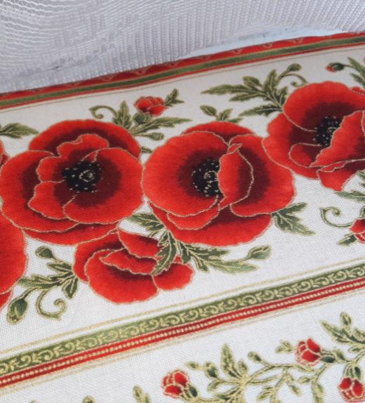 Malá kosmetická taštička na zip s motivem květů 03