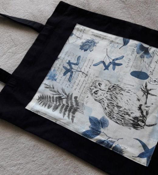 Plátěná nákupní taška s motivem sovy 04