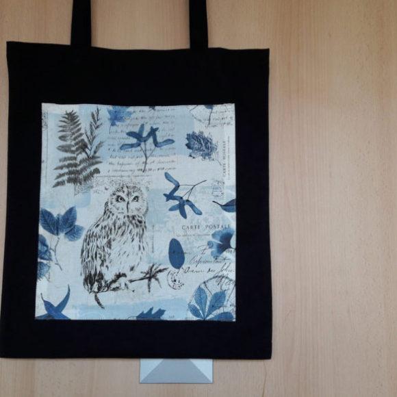 Plátěná nákupní taška s motivem sovy
